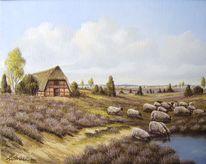 Heide, Landschaft, Malerei