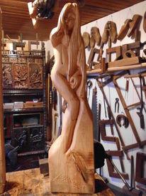 Skulptur, Frau, Akt, Plastik