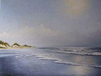 Möwe, Wasser, Gemälde, Nordsee