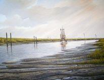 Nordsee, Ostfriesland, Malerei, Landschaft