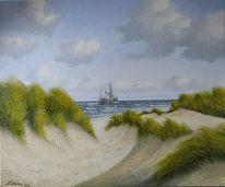 Sand, Wasser, Möwe, Meer