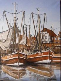 Hafen, Ostfriesland, Möwe, Greetsiel
