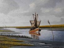 Priel, Nordsee, Watt, Norden