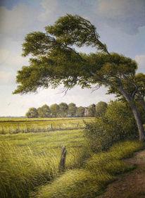 Landschaft, Ostfriesland, Weite, Ölmalerei