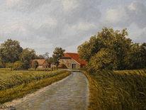 Hof, Ostfriesland, Malerei, Landschaft