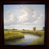 Ostfriesland, Weite, Ölmalerei, Landschaft