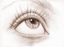 Warten, Augen, Zeichnung, Godot