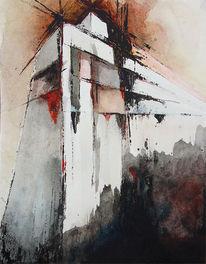 Wand, Unendliches, Malerei, Surreal