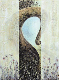 Umgarnen, Wunsch, Malerei, Surreal