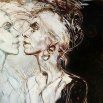 Spiegel, Geschlecht, Nacht, Malerei