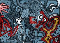 Rot, Gehirn, Linie, Blau
