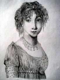 Frau, Zeichnung, Alt, Gräfin