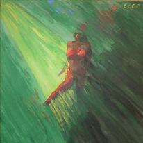Leben, Nacht, Acrylmalerei, Tanz
