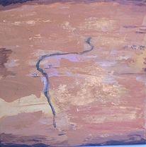 Wüste, Malerei, Landschaft, Pigmente