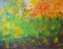Farben, Acrylmalerei, Augen, Blumen