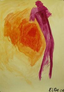 Malerei, Farben, Rot, Tanz
