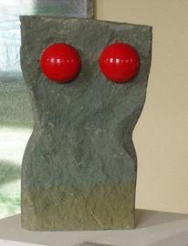 Stein, Frau, Körper, Rot