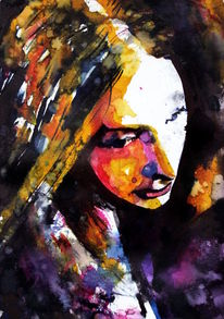 Frau, Gesicht, Ausdruck, Farben