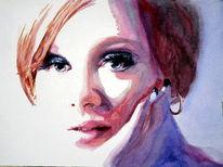 Adeln, Sängerin, Aquarellmalerei, Portrait
