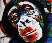 Farben, Tiere, Ausdruck, Affe