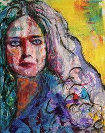 Gesicht, Blick, Portrait, Farben