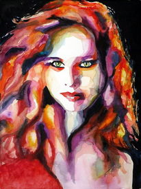 Haare, Portrait, Malerei, Farben