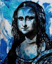 Menschen, Figurativ, Portrait, Acrylmalerei