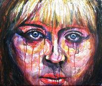 Frau, Farben, Portrait, Gesicht