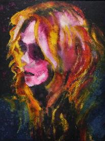 Farben, Portrait, Gesicht, Frau
