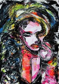Figurativ, Menschen, Acrylmalerei, Gesicht