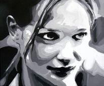 Monochrom, Portrait, Ausdruck, Schwarz weiß
