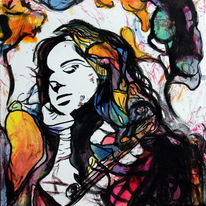Frau, Farben, Menschen, Gesicht