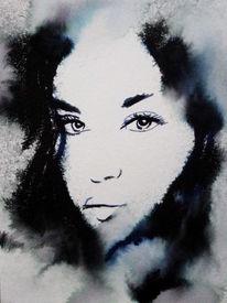 Frau, Figurativ, Gesicht, Portrait