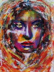 Gesicht, Figurativ, Farben, Abstrakt