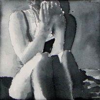 Monochrom, Acrylmalerei, Malerei, Figural