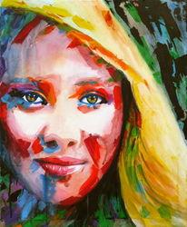 Augen, Farben, Frau, Ausdruck