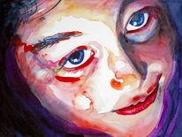 Portrait, Blick, Licht, Ausdruck