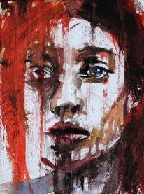 Frau, Blick, Gesicht, Menschen