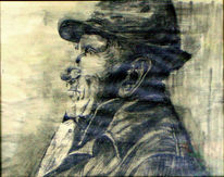 Portrait, Zeichnung, Grafit, Bleistiftzeichnung