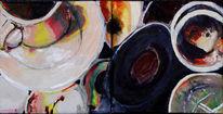Tasse, Malerei, Acrylmalerei, Stillleben