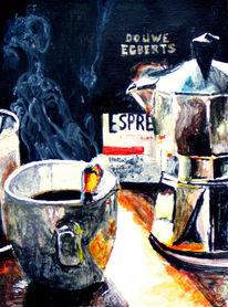 Acrylmalerei, Stillleben, Kaffee, Licht