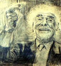 Malerei, Zeichnung, Alter mann, Bleistiftzeichnung