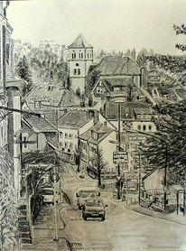 Skizze, Wuppertal, Zeichnung, Bleistiftzeichnung