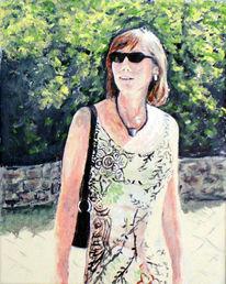 Malerei, Acrylmalerei, Sommer, Portrait