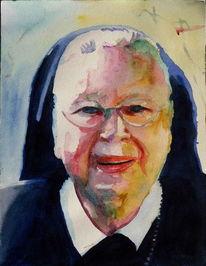 Frau, Schwestern, Nonne, Portrait