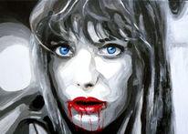 Portrait, Mund, Gesicht, Augen