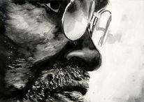 Mann, Gesicht, Portrait, Monochrom