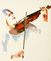 Violine, Geige, Frau, Musik