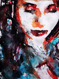 Farben, Frau, Figurativ, Gesicht