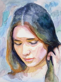Ausdruck, Portrait, Haare, Frau